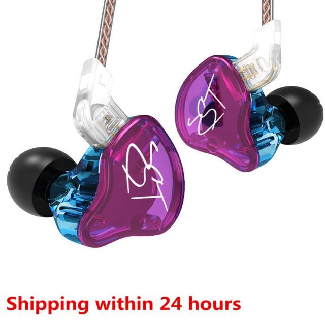 KZ ZSTs ZSTX 1BA + 1DD In Ohr Kopfhörer Hybrid Headset HIFI Musik Sport Ohrhörer Noise Cancelling Ohrhörer Ersetzt kabel ES4 ZSN ES3