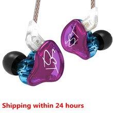 Kz zstのzstx 1BA + 1DDで耳イヤホンハイブリッドヘッドセットハイファイ音楽イヤノイズキャンセルインナーイヤー型交換ケーブルES4 zsn ES3