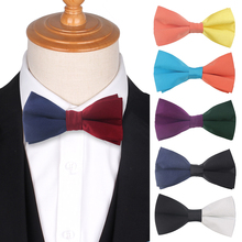 Solid Two-tone Bow Tie for Men Women Bowtie Tuxedo Adjustable Mens ties For Wedding Party  Butterfly Bowties Cravat