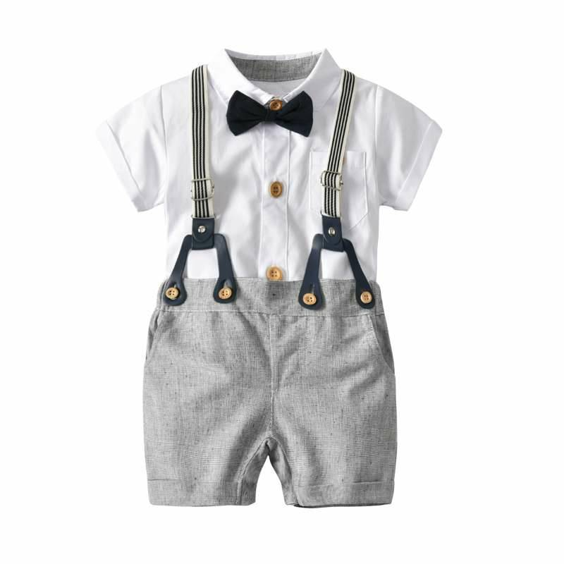 2019 Summer Baby Boys Clothes Set 100% Cotton T-Shirts+Pants 2Pcs Wedding Birthday Baptism Clothing Suit Kids Child Outfits