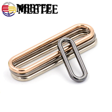 5pcs 1.5cm-6cm seamless oval metal buckles for shoes luggage bag ring egg type