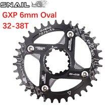 Caracol oval chainring 6mm offset gxp xx1 águia x01 gx x1 x0 x9 para sram dm 32t 34t 36 38 mtb bicicleta de estrada montagem direta