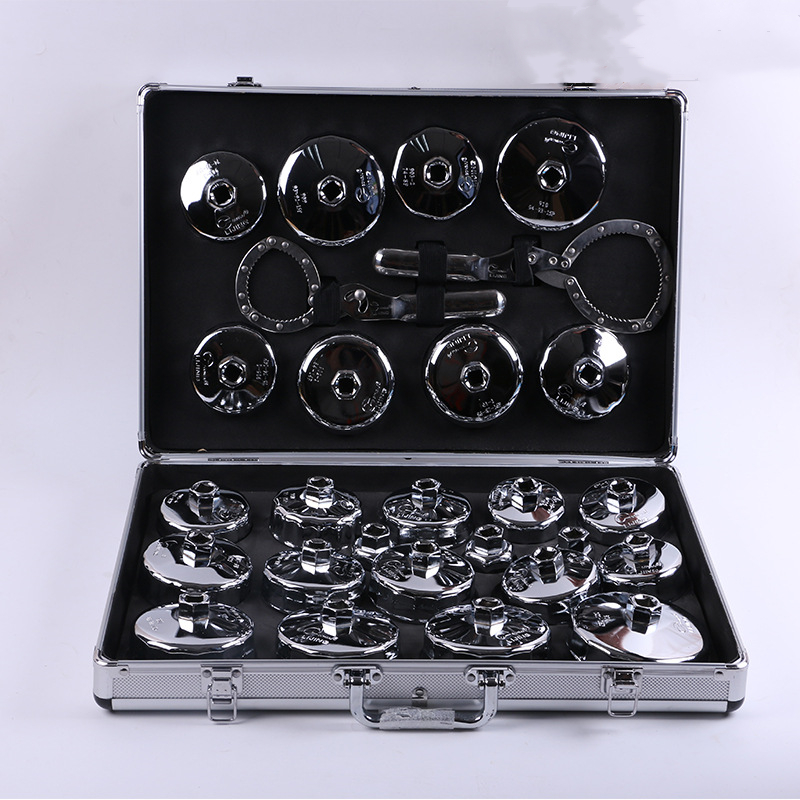 27pcs Cap Type Oil Filter Replacement Oil Grid Assembly And Disassembly Filter Set Removal Sleeve Maintenan