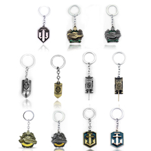 цена на Game Jewelry World of Tanks Keychain WOT Metal Tank Bullet Key Ring Key Chains Pendant Chaveiro Movie Jewelry For Men and fans