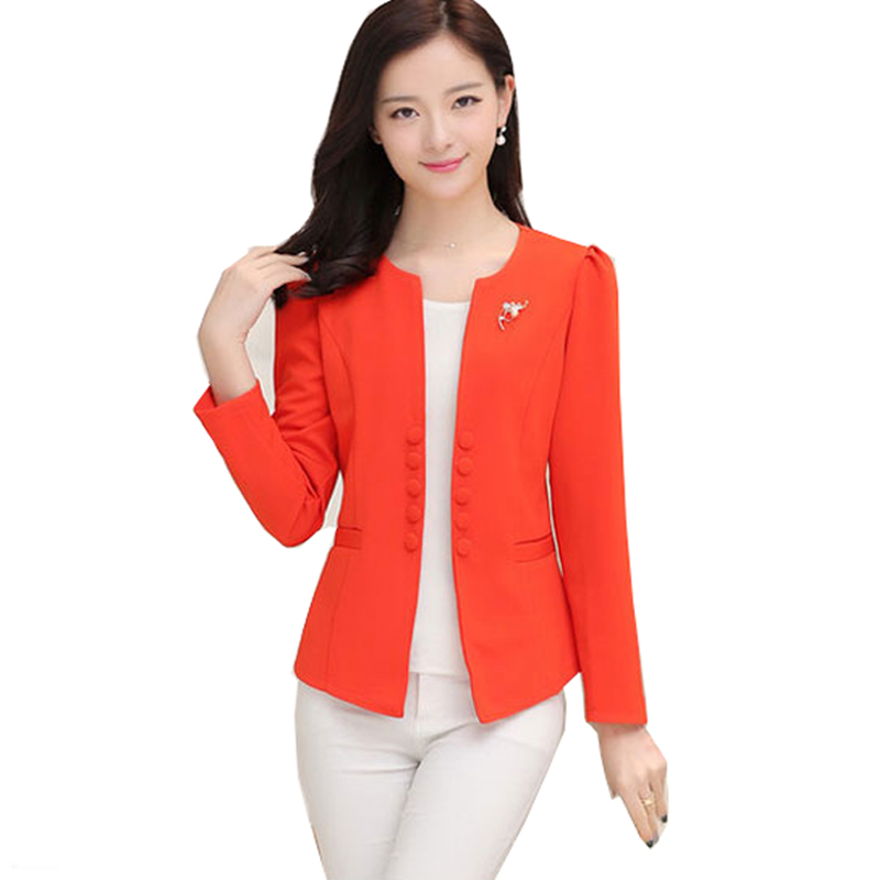 2019 New Fashion Office Lady Womens Blazers Female Spring And Autumn Women's Casual Long Sleeved Woman Blazer 5 Colors 6 Sizes
