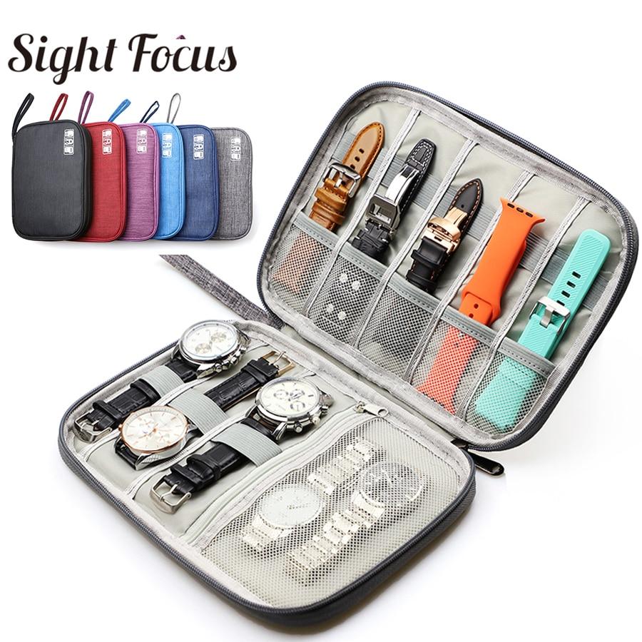 Waterproof Watchband Storage Case Watch Travel Pouch Organizer For Apple Watch Band Box Portable Samsung Watch Strap Bag Durable