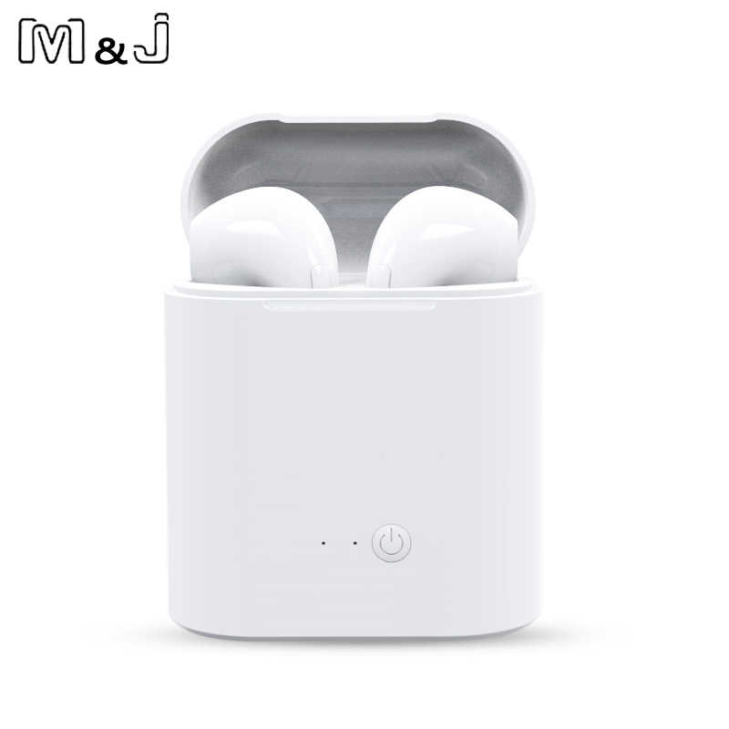 Hot Sale I7s TWS Bluetooth Earphone Stereo Earbud Nirkabel Bluetooth Earphone In-Ear Headset untuk Semua Ponsel Pintar