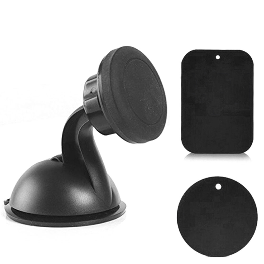 Universal Car Phone Holder GPS Black ABS Magnetic 360 Rotary Mount Cell Phone Holder Stand For All Phones #LM45