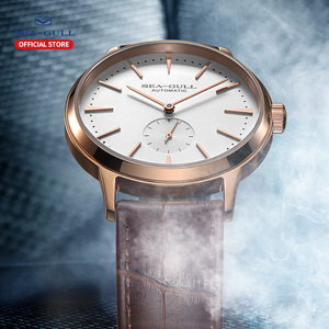 Image 5 - Seagull Business Watches Mens Mechanical Wristwatches 50m Waterproof Leather Valentine Male Watches 819.22.6075