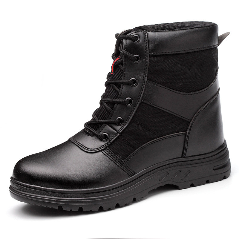 Winter Safety Shoes Men's High Cotton-padded Shoes Steel Head Anti-smashing And Anti-penetration Welders To Safe Cold Warm Plus