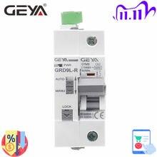 GEYA Din Rail disjoncteur automatique GRD9L-R GYM9 1P 6KA MCB dispositif auto-reclose avec certificat CE
