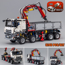 New MOC Arocs Series Truck City Motor Power Function Model Fit Legoings Technic Building Blocks Bricks 42043 Kid Toys Gift new movie potter great wall house fit legoings castle figures building blocks bricks model kid toys children kid gift birthday