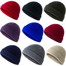 men #8217 s and women #8217 s unisex winter solid color soft warm watch cap knit thick pea hat windproof outdoor tough warm hat casual hat cheap GOUROOW COTTON