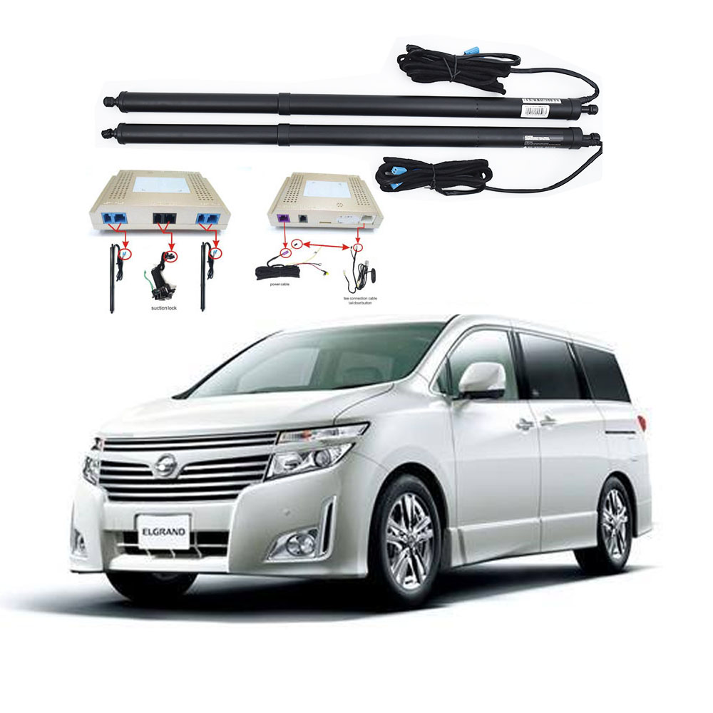 New Electric Tailgate Refitted For NISSAN ELGRAND 2017-2020 Tail Box Intelligent Electric Tail Door Power Tailgate Lift Lock