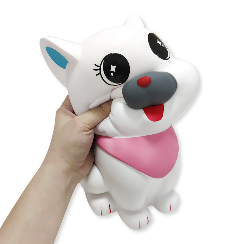 Exquisite Cartoon Oversized White Scarf Dog Squishies Scented Slow Rising Stress Reliever Toy For Children Toy Gift L106
