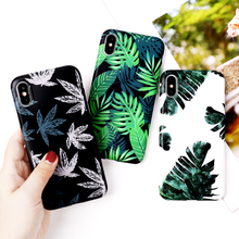 VZD Art Flowers Banana Leaf Phone Case For iPhone XS Max XR 6 6S 7 8 Plus X Retro Style Flower Floral Soft Back Cover