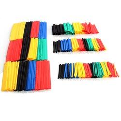 70/127/164/328/530 Uds. Variados tubos termorretráctiles de poliolefina, juego de cables de envoltura de manga de Cable, tubo retráctil aislado