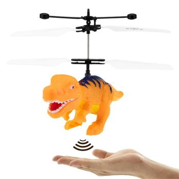 1 Set Children's Induction Flying Remote Control Toy Dinosaur Somatosensory Suspension Anti-fall Induction Aircraft 1