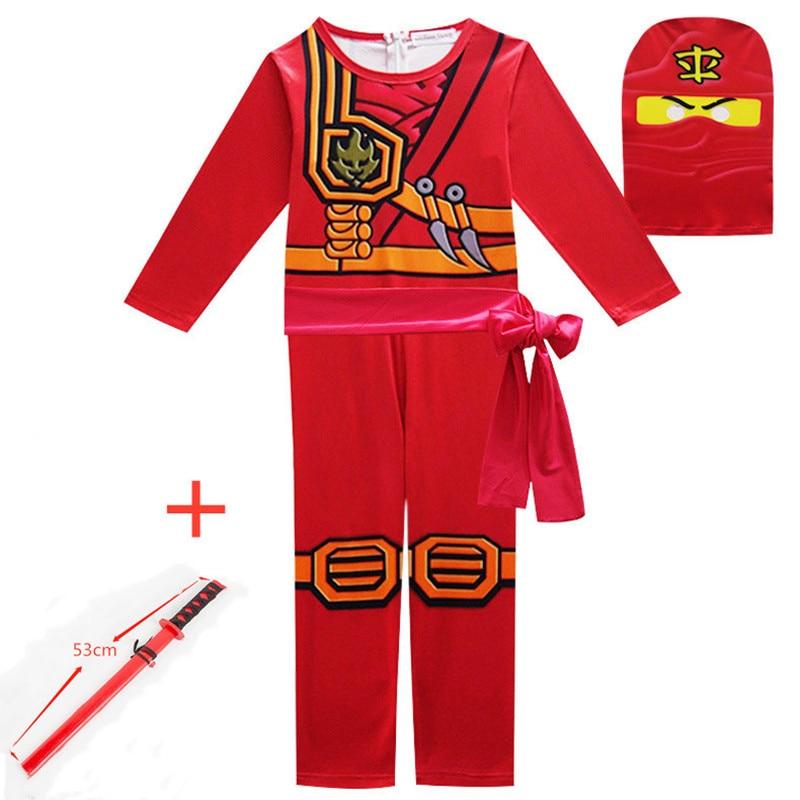 Phantom Ninja Anime Cosplay Kids Costume Halloween Christmas Leg Super Hero Ninja Knife Game Play Boy Girl Set