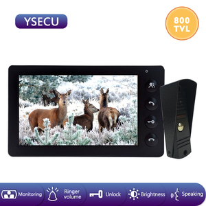YSECU 7''Wired Black Video Doo