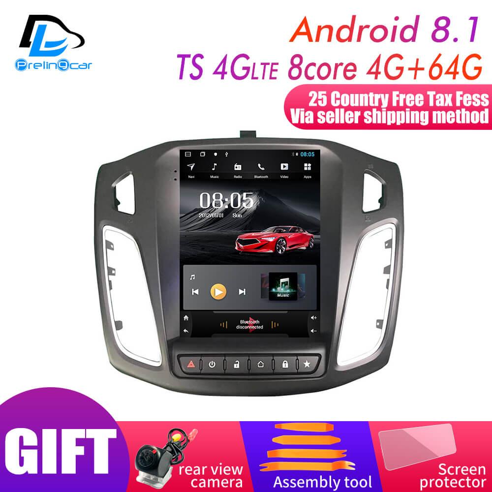 32G ROM écran Vertical android 9.0 voiture gps lecteur de radio vidéo multimédia pour ford focus salon 2012-2016 ans navigation stéréo