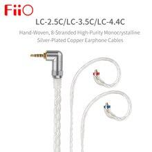 FIIO LC 2.5C LC 3.5C LC 4.4C סטנדרטי MMCX 3.5/2.5/4.4mm יד ארוג מאוזן אוזניות החלפת כבל עבור shure/UE /FIIO/JVC