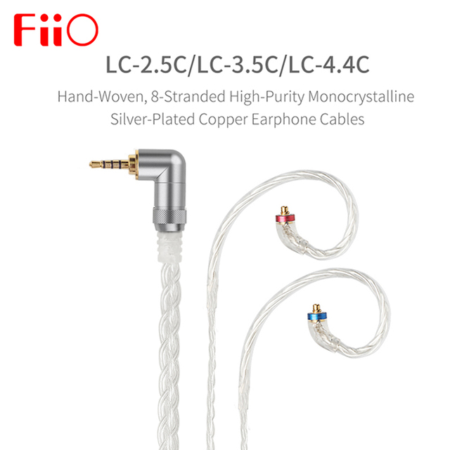 FIIO LC 2.5C LC 3.5C LC 4.4C Standard MMCX 3.5/2.5/4.4mm Hand Woven Balanced Earphone Replacement Cable for Shure/UE /FIIO/JVC