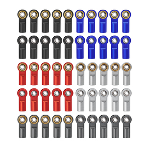 Металлические наконечники стержня M4, 1/10/20 шт., шаровой шарнир, алюминиевый хомут/нажимной стержень, стальной шарик для RC SCX10 Tamiya, аксессуары д...