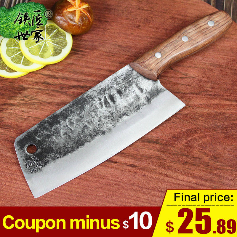Handmade forged chef knife Stainless steel slicing knife Chinese kitchen knives vegetable fish meat knife cuchillos de cocina|Kitchen Knives|Home & Garden - title=