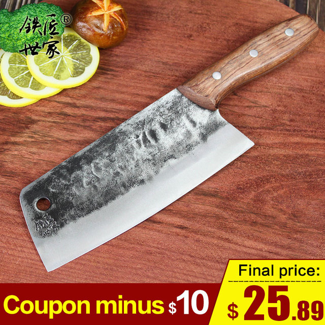Handmade forged chef knife Stainless steel slicing knife Chinese kitchen knives vegetable fish meat knife cuchillos de cocina
