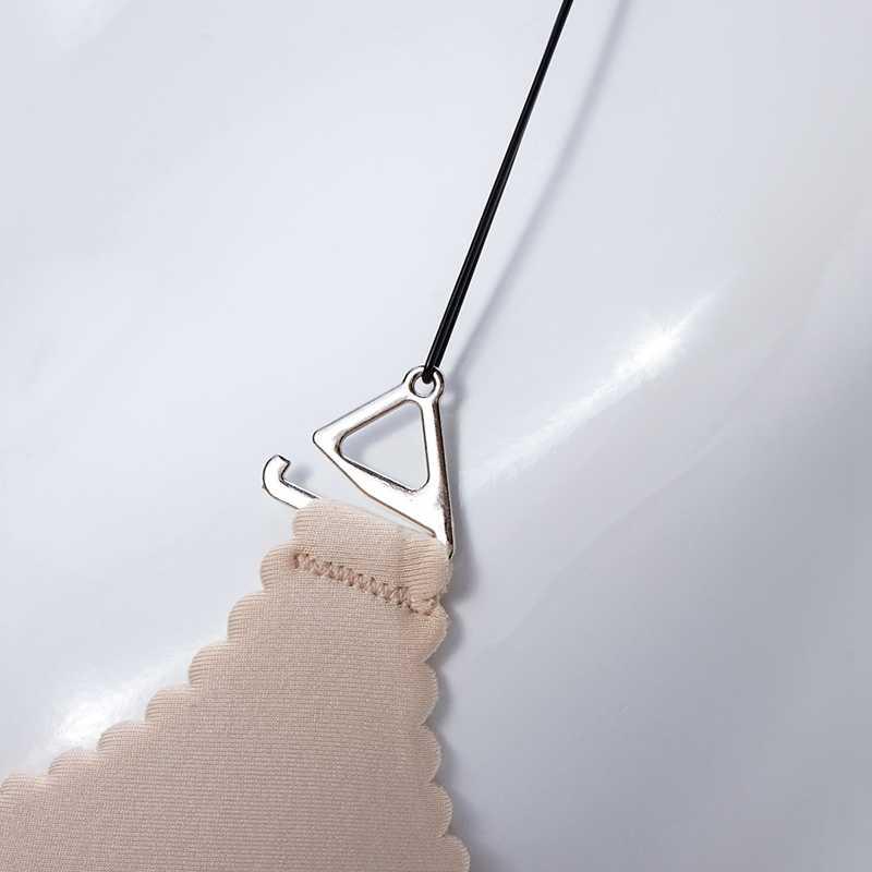 3Pairs = 6Pcs Fibbia In Metallo Spalline Del Reggiseno delle Donne della Cinghia Elastico In Silicone Trasparente Invisibile Regolabile Intimo Donne Accessori