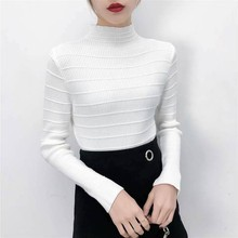 Turtleneck Short Casual Sweaters Women Pullover Fashion Woman Knitted Solid Sweater Tops Korean Style