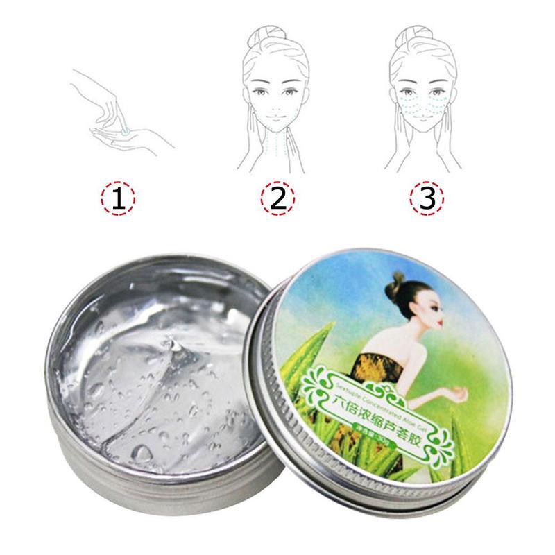 Natural Aloe Vera Acne Facial Cream Smooth Gel Acne Treatment Face Cream For Hydrating Moist Repair After Sun