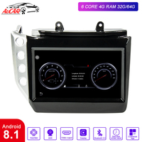 AuCAR 9 Android 8.1 DIN Car Radio for Maserati GT/GC GranTurismo 2007 2019 GPS navigation multimedia Stereo Audio DVD player