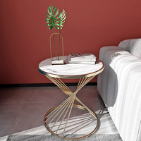 Nordic Light Luxury Small Coffee Table Books Round Simple Marble Sofa Side Bedside Table Light Luxury Corner Furniture