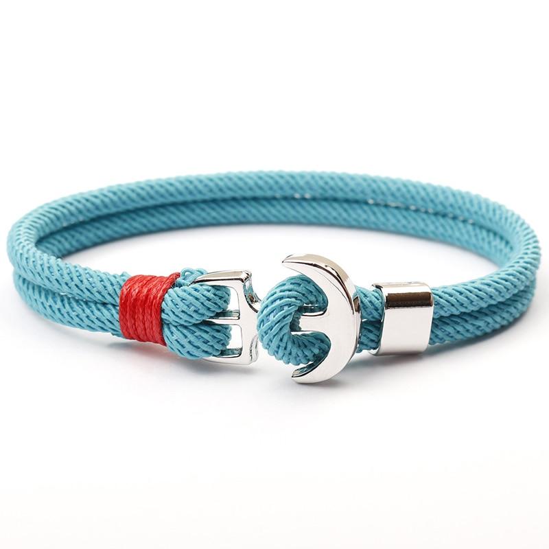NIUYITID 2019 New Red Thread Rope Women's Bracelets Pirate Charm Anchor Bracelet On Hand pulsera hilo armbandjes dames