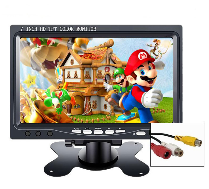 7 inch mini portable hd lcd TFT CCTV security screen car monitor 10.1 small game monitor pc for Windows 7 8 10 PS3 4 Xbox360 image