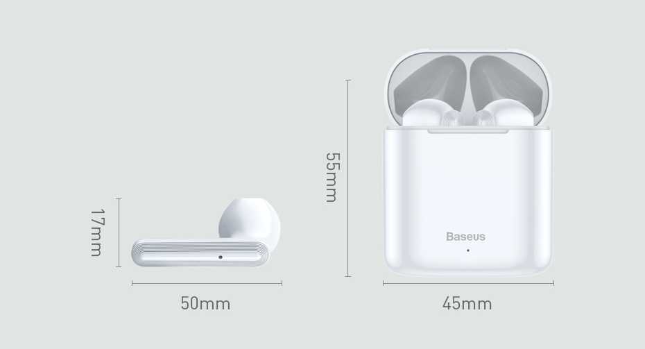 ASTROSOAR - Baseus W09 TWS Wireless Bluetooth Earphone Intelligent Touch Control Wireless TWS Earphones With Stereo bass sound Smart Connect
