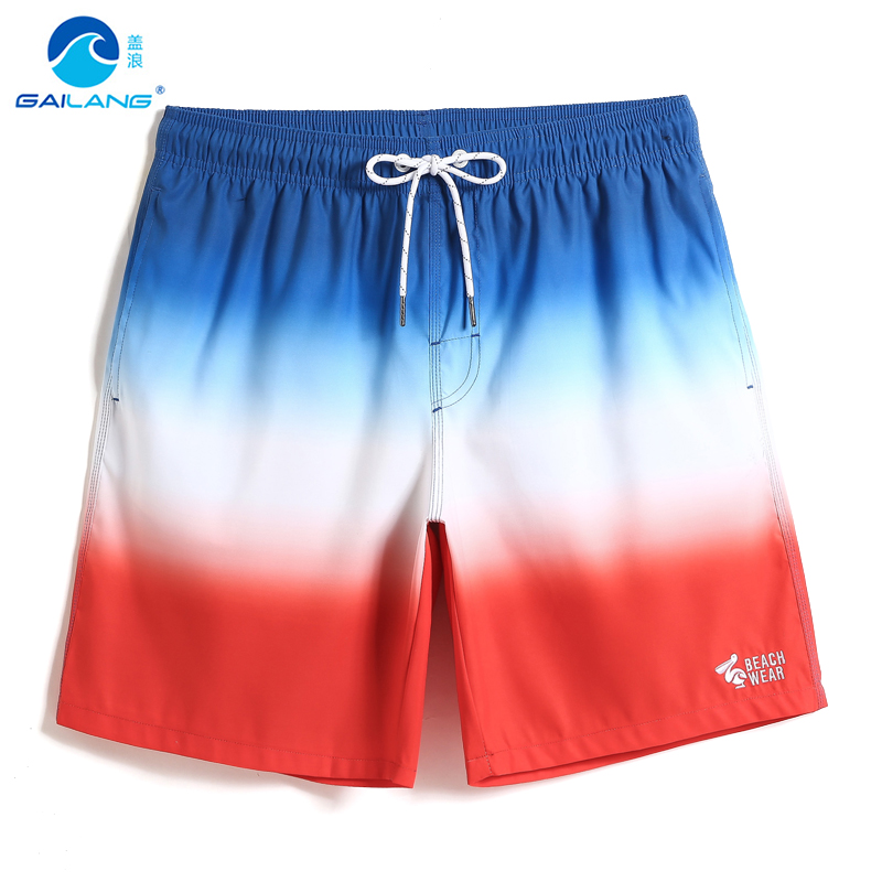 Summer New Gailang Men   Board     shorts   swimwear joggers ink painting joggers sexy Bathing suit swimsuit solid mesh