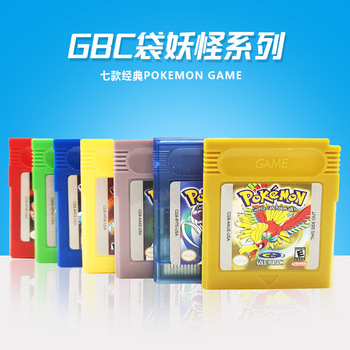 цена на Pokemon GBC Games Series 16 Bit Video Game Cartridge Console Card Classic Game Collect Colorful Version English Language