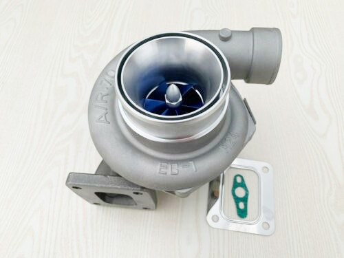 GT3582R T4 Flange Dual Ball Bearing A/R.70  A/R.82 Upgrade Billet Blue Wheel  Performance Water And Oil Turbocharger