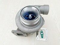 Gt3582r t4 플랜지 듀얼 볼 베어링 a/r.70 a/r.82 업그레이드 빌렛 블루 휠 성능 물 및 오일 터보 차저