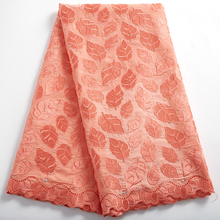 African Voile Lace Fabric 2021 High Quality Dry Lace Embroidery Swiss Dry Cotton In Switzerland Yard Materila With Stone 2390A