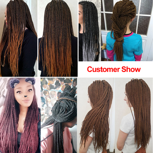 """Image 5 - TOMO 30Roots 14"""" 16"""" 18"""" 20"""" 22"""" Ombre Synthetic Braiding Hair Extensions Small Crochet Braids Senegalese Twist for Black Women"""