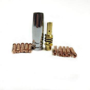 15AK palnik do spawania materiały eksploatacyjne 12 sztuk 0 6mm 0 8mm 0 9mm 1 0mm 1 2mm MIG latarka dysza gazowa uchwyt końcówki do MIG spawanie mag Machine tanie i dobre opinie MIG MAG Welding Torch Consumables 15AK_Pack 12pcs European Style MB 15AK Torch 10pcs 0 6mm 0 8mm 0 9mm 1 0mm 1 1pcs