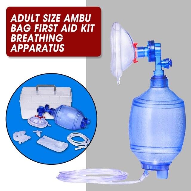 Manual Resuscitator Adult Size PVC  Ambu Bag Oxygen Tube First Aid kit Breathing Apparatus