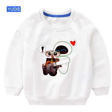 kids sweatshirt wall e toddler baby boy hoodie 2019 autumn children boys sweatshirts hoodie fashion white sweatshirt for boy 3T sweatshirt f e v by francesca e versace sweatshirt