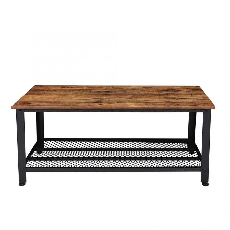 Coffee Table Rectangle TV Stand Vintage Cocktail End Table Living Room Modern Industrial Look  Living Room Table