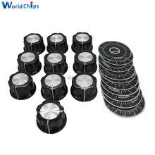 10 pçs/lote MF-A03 6MM interruptor botão Potenciômetro chapéu RV24YN20S RV30YN20S WX112 WX050 WTH118 WH118 WX111 WX030 WX110 WX010