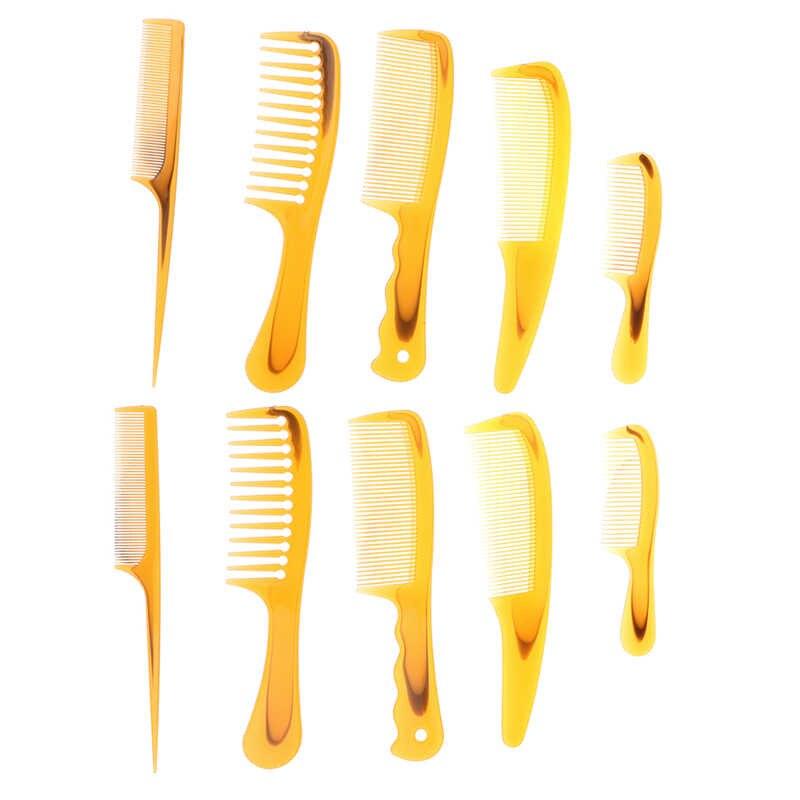 2 Pcs/lot 5 Gaya 20 Cm Hitam Hairdressing Sisir Anti-Statis Memotong Rambut Sisir Kusut Lurus Pro Salon Styling alat